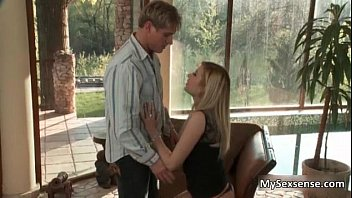 cocks goes wild on blonde babe two Abbey brooks from heavy duty 23