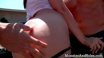 date for wife husband teases dominant ready getting Immobilized guy fucked by busty blonde tranny