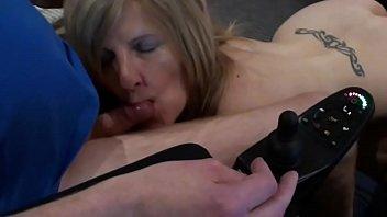 using massage cock pantyhose Big tits on a train