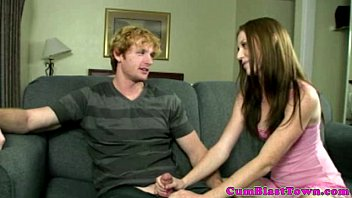 small brunette solo Old man watche