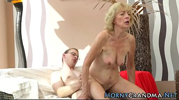 granny boy shy Nice hardcore dp with facial