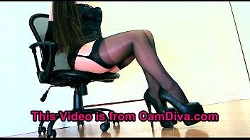 tease young blonde nylon hottie sensual Angel eyes vs shane diesel5