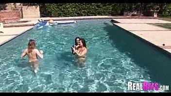 pool party side Female pov bj