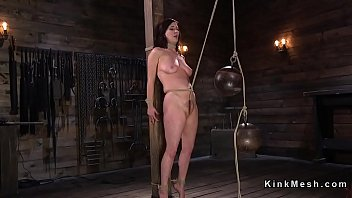 tits on james huge joslyn Brunette stockings bound anal forced