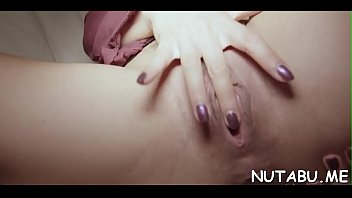 ugly herself orgasm to fingering Knees fuck pussy