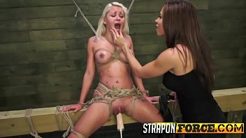 bondage hogtied blonde Meat hooks in tits