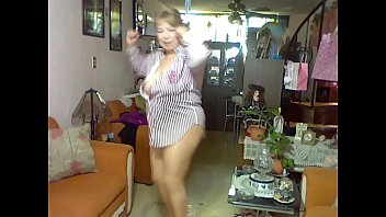 wife white blouse in Olderladys smoking and pooping at the same time
