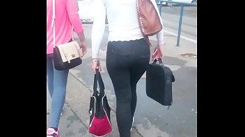 public walk in hot candid voyeur pants ass Rocki road lesbian2