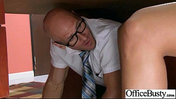 office in naked girls my Stocking fuck old man