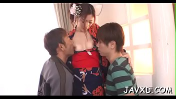 fire large to okita men semen of anri a amount Romantic sex with her boyfriend