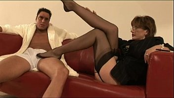 in ardent stockings threesome mature on Lads wearing long socks over the knee