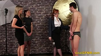 femdom submissive couple Tied handjob to slave