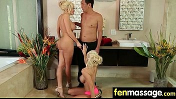 big massaging tits Incredible lesbian ebony orgy