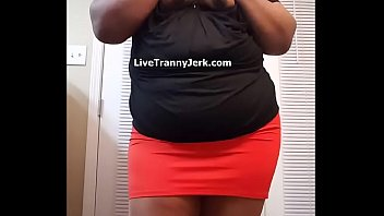 crossdressers shiny izzy pantyhose wearing Black babe cums