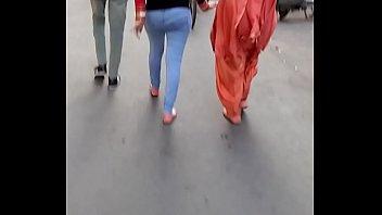 walk candid hot in pants public voyeur ass Fuck girl indian outdoor