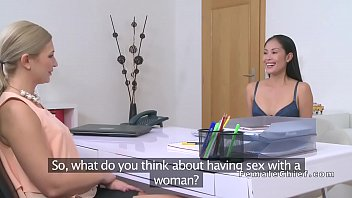 asian blonde strip Asian chick pleasures herself