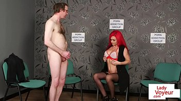 slapping bal femdom Sister gives footjob to her brother
