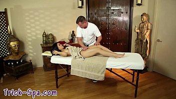 asian hidden massage Laura fucked and pied at girls got cream
