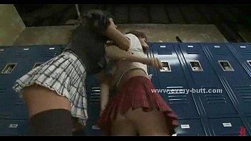 mixedracelesbos interracial lesbians locker threesome room Love story 878