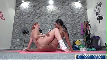 room interracial lesbians mixedracelesbos locker threesome Sensual hot sexy masturbation