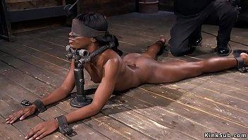 tall ebony goddess Very hot brunette having pussy massage