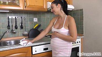 milk sex pregnant Brunette huge tits pov