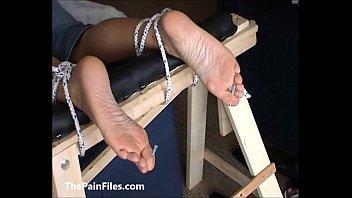 fashioned foot fully fetish stocking Horny latina chick sucks and fucks