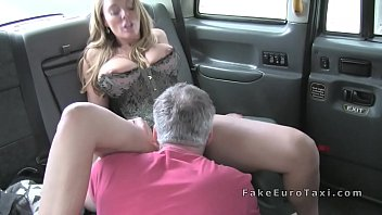 tits faketaxi with blonde spanish huge Femdom office boy cunnilius
