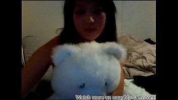 asian webcam vian Curvy blonde bombshell georgiana has rough threesome